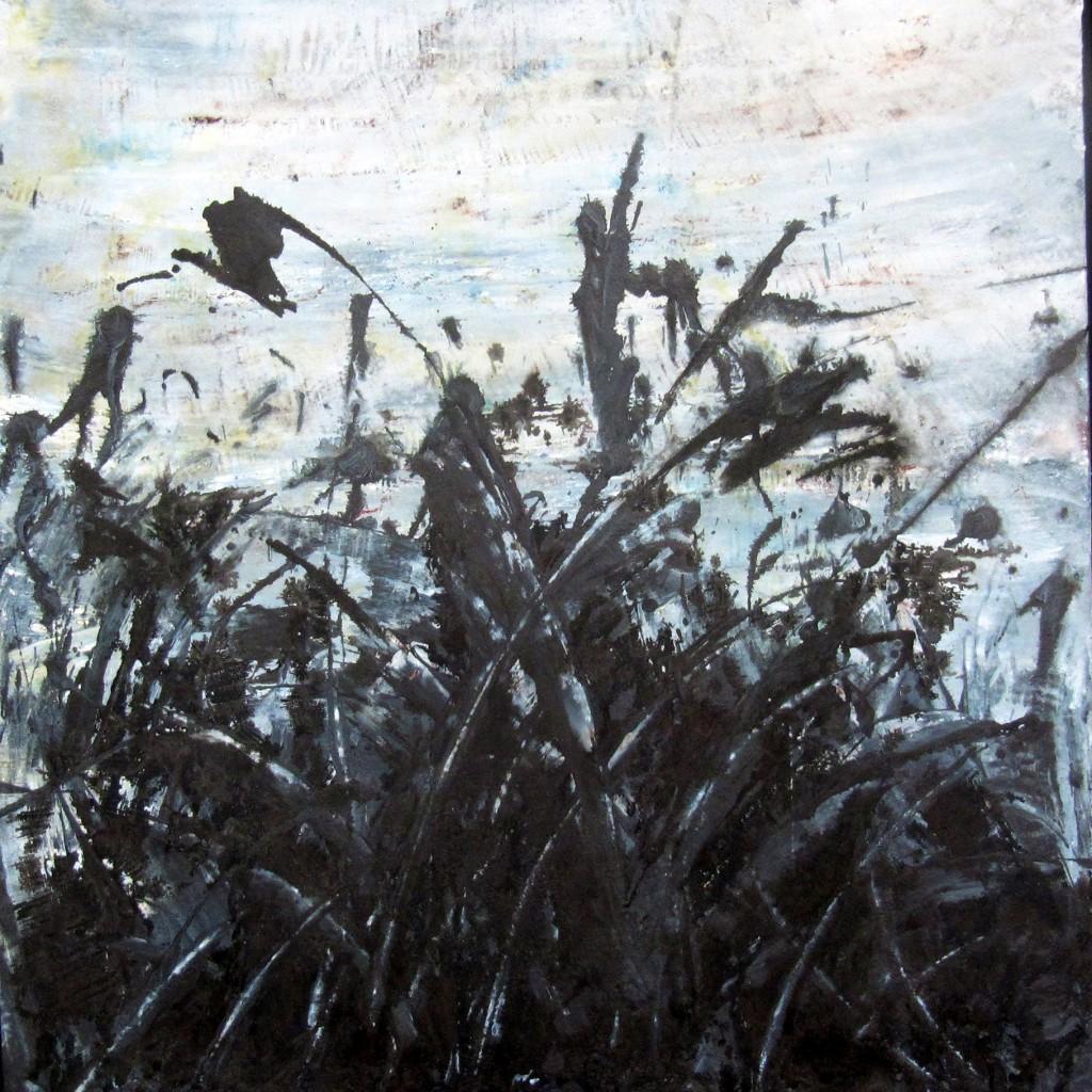 Sologne, <br>120 x 120 cm, Acrylique et encre