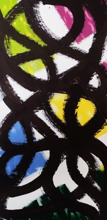 Expression 004, 190 x 80 cm, Techniques mixtes