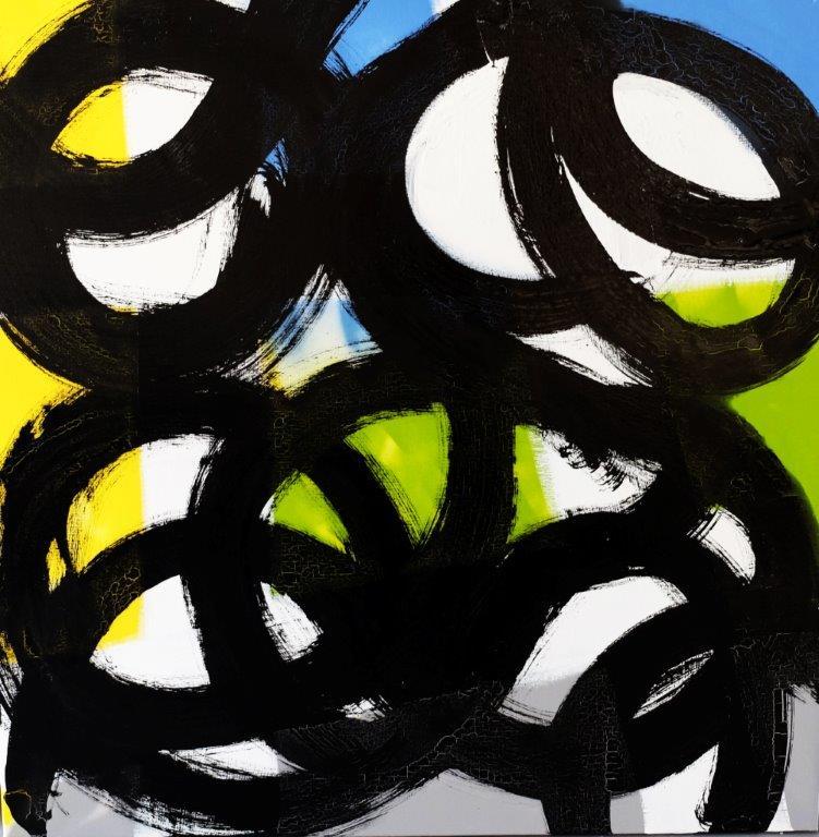 Expression 008, 100 x 100 cm, Techniques mixtes