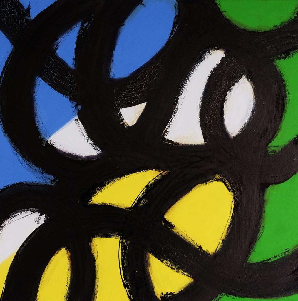 Expression 51, 100 x 100 cm, Techniques mixtes, acrylique, bombe et encre