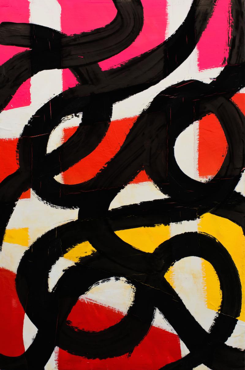 Expression 003, 120 x 80 cm, Techniques mixtes